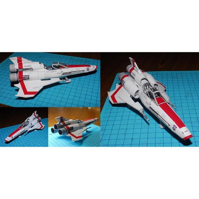 Battlestar Galactica Collection  Mk II Ship 3D Paper Model Kit  Spaceship DIY Handmade Spacecraft Toy 4