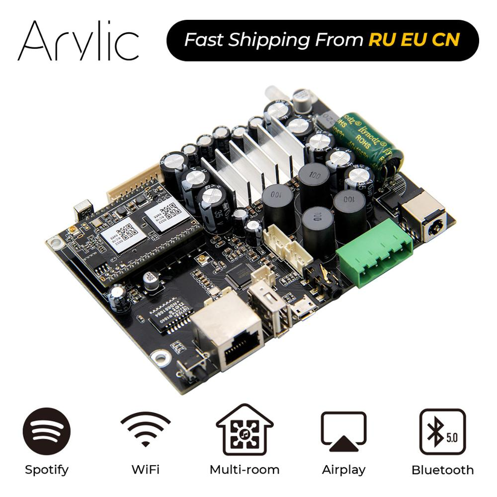 Up2stream AMP V3 WiFi  amp  Bluetooth 5 0 HiFi Stereo Class D digital multiroom audio amplifier board with Spotify Airplay Equalizer