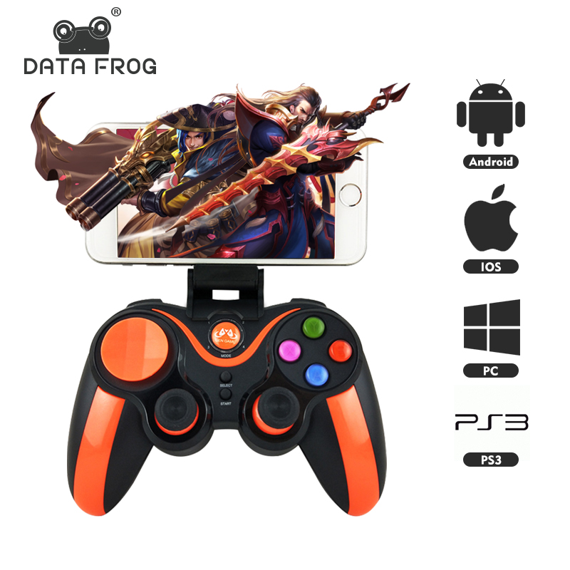 DATA FROG Game Controller For IOS Wireless Bluetooth Gamepad Support Official App For PUBG Android Joystick For PC PS3 TV Box image