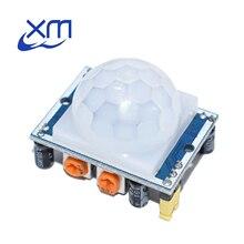 Ücretsiz kargo 100 adet HC SR501 ayarlamak kızılötesi IR pyroelektrik kızılötesi PIR modülü hareket sensör dedektörü modülü