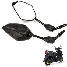 1 para uniwersalne 10mm elektryczne lusterka wsteczne motocyklowe, dla YAMAHA AS125, lusterka wsteczne z tyłu
