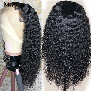 Image 2 - Meetu  Curly Human Hair Wig 8 26 Inch Malaysian 13x4 Lace Front Human Hair Wigs Pre Plucked Lace Closure Wigs 100% Remy Hair Wig