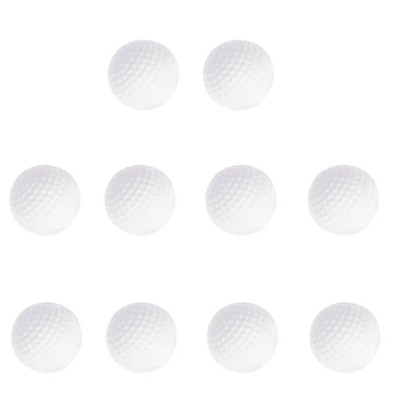 Super Sell-10Pcs Golf Balls Outdoor Sports White Pu Foam Golf Ball Indoor Outdoor Practice Training Aids