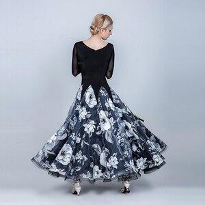 Image 3 - שמלות נשים אולם נשפים שמלת בנות סלוניים ואלס שמלת שוליים סטנדרטי חברתי שמלת ריקוד ללבוש