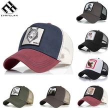 Evrfelan, модная сетчатая бейсболка, унисекс, с милыми животными, кепки для женщин и мужчин, Snapback, кепка для папы, летняя, регулируемая, gorras