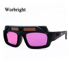 Auto Darkening Welding Glasses Solar Powered Automatic Light Change Welding Helmet Anti Glare Eyes Shied Goggle Glasses