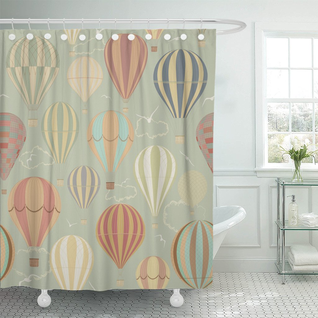Retro Bathroom Curtains