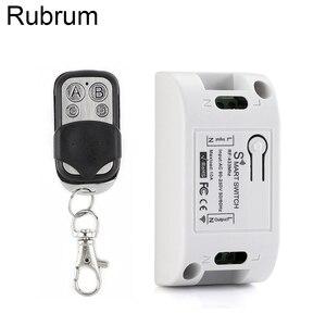 Image 1 - Rubrum 433 Mhz العالمي لاسلكي للتحكم عن بعد التيار المتناوب 110 فولت 220 فولت 1CH RF التتابع وحدة الاستقبال و RF 433 Mhz 4 زر التحكم عن بعد