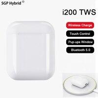 i200 TWS Wireless Charging Touch Smart Pop up Window Bluetooth 5.0 Earphone i200tws + Case Kit PK 1:1 i100 i90 i80 tws earbuds