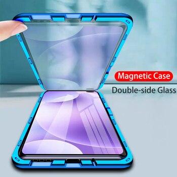 Перейти на Алиэкспресс и купить Магнитный чехол OEING для Xiaomi Poco F2 Pro M2 Pro, чехол для Redmi K30 Pro Note 9S 9 Mi 10 Pro, противоударный чехол из закаленного стекла 360