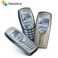 Orijinal NOKIA 6100 cep telefonu Unlocked GSM Triband yenilenmiş 6100 cep telefonu ucuz telefon yenilenmiş
