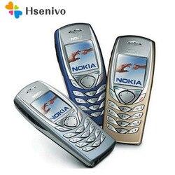 Oryginalny telefon komórkowy NOKIA 6100 odblokowany GSM Triband odnowiony 6100 telefon komórkowy tani telefon odnowiony
