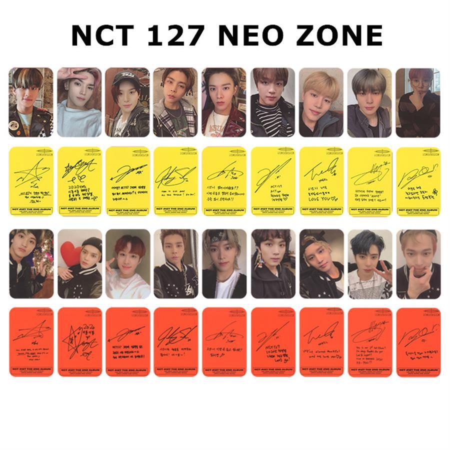 9X Kpop NCT 127 Neo Zone Album Photocard Self Made Autograph Photo Cards Photograph