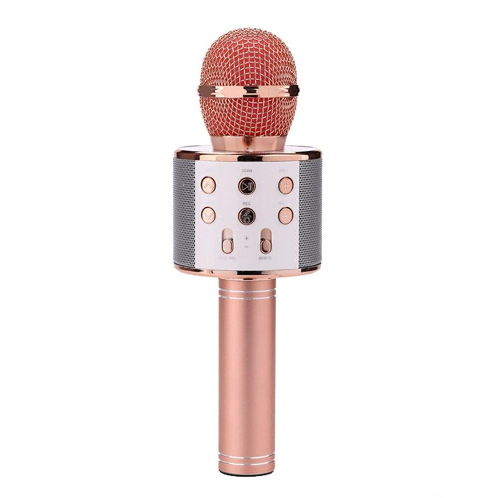 Microfone sem fio karaokê alto-falante, microfone sem fio para karaokê, sistema digital de tocador de áudio, música e mick. Ws858