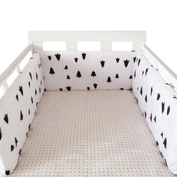 baby nursery Nordic Stars Design Baby Bed Thicken Bumper One-piece Crib Around Cushion Cot Protector Pillows Newborns Room Decor 12
