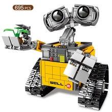 695 pçs wali robô blocos de construção tecnologia criativa personificação diy brinquedos educativos companionship das crianças