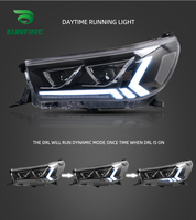 Car Styling Car Headlight Assembly For Toyota Hilux 2015 2016 2017 2018 2019 LED Head Lamp Car Tuning Light Parts Plug And Play