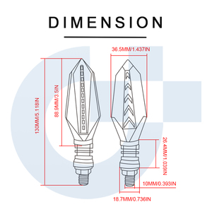 Image 5 - Clignotants universels de moto feux de lampes led lampe pour Honda CB400 NC700X NC700X NC700V NC700S NC 700X NC750S NC 750X Grom