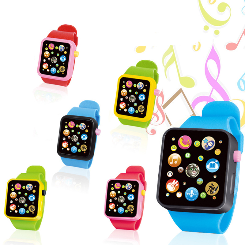 Baby Montessori Electronic Watch Toys 8 Major Functions Clock Up Watch Kids Music Toy