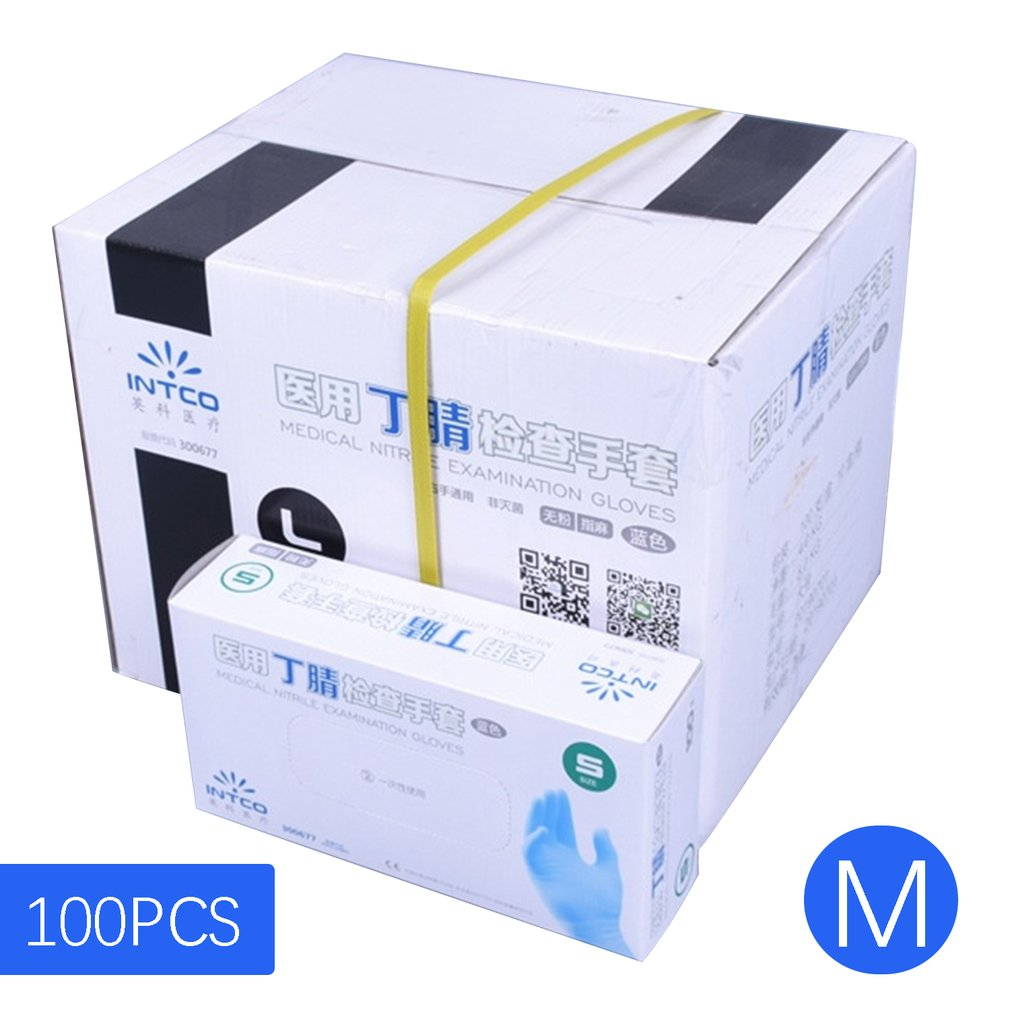 Vinyl Gloves Disposable Powder-free Industrial Food Safety 3mm Translucent Quality PVC Gloves Nitrile Gloves 100PCS/Box