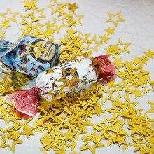 1000 teile/beutel Gold Metallic Hohl Sterne Confettis Für Hochzeit Party Dekoration diy Geburtstag Zubehör Urlaub Dekor PVC Supplie