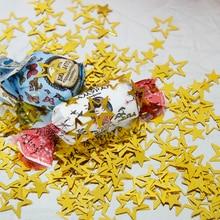 1000 шт./пакет золотые металлические пустотелые звезды для украшения свадебной вечеринки «сделай сам» Аксессуары для дня рождения праздничные украшения из ПВХ