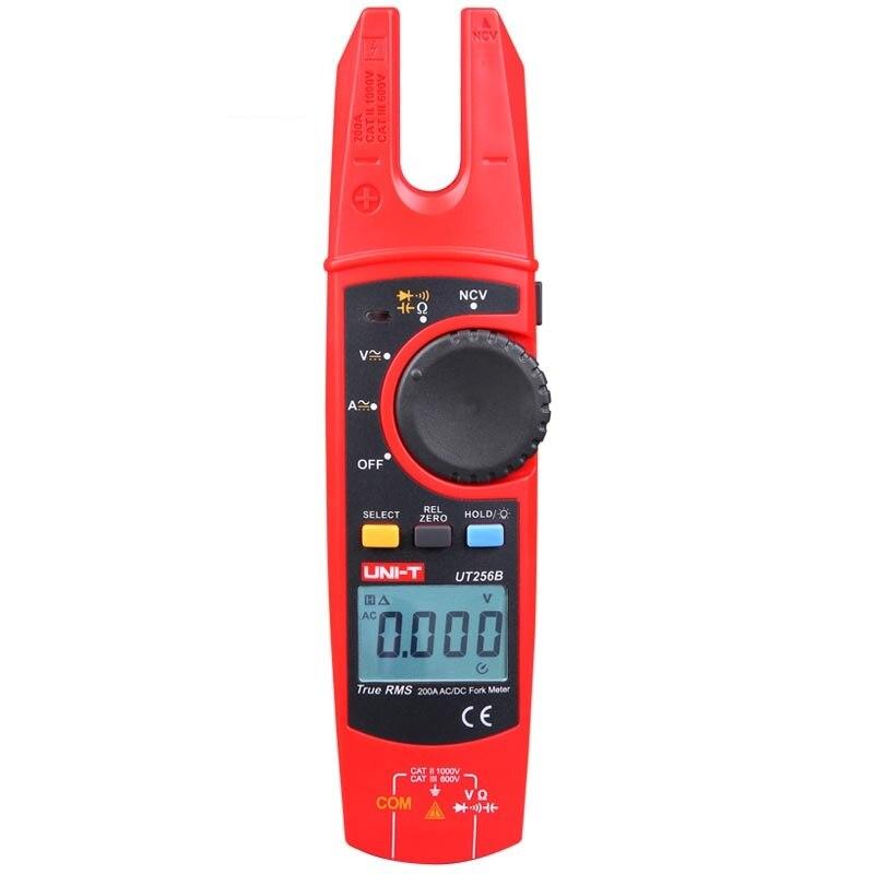 UNI T UT256B 200A True RMS Вилка метр; AC/DC Амперметр, сопротивление/Емкость/NCV/диод тест, ЖК подсветка