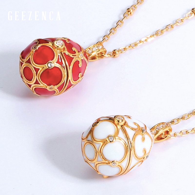 925 Sterling Silver Egg-shaped Open Pendant With Necklace Luxury Designer Jewelry 2019 Autumn Newest Sweater Chain Korea Trendy