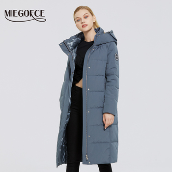 MIEGOFCE 2020 New Women s Long Cotton Coats With miegofce Logo Design Winter Waterproof Parkas