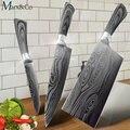 Кухонный нож 5 7 8 дюймов из нержавеющей стали ножи шеф-повара нож Santoku утилита 440C lazer damacuse шаблон приготовления набор