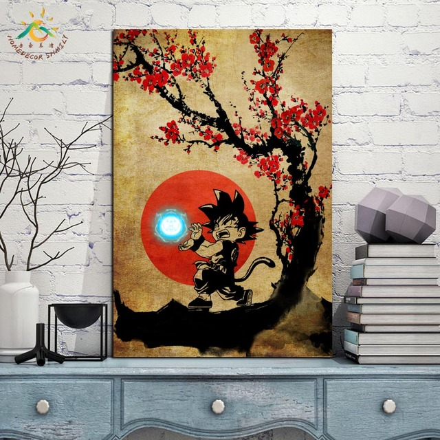 Japanese Anime Poster Dragon Ball Canvas Painting Prints and Posters Pop Art Wall Decor Wall Pictures Frames for Living Room
