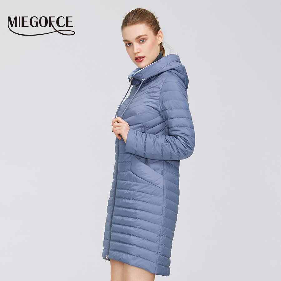 MIEGOFCE 2020 디자이너의 새로운 컬렉션 봄 여성의 파카 코트 여성의 Windproof 얇은 면화 재킷 후드와 따뜻한 재킷
