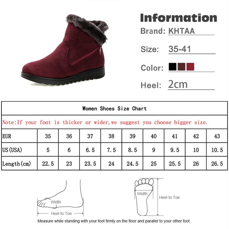 Snow Boots Women Winter Warm Fur Ladies Zip Platform Suede Wedge Fashion Ankle Boot Female Comfort Casual Shoes Plus Size