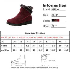 Image 5 - Botas de nieve para mujer, invierno, piel cálida, plataforma con cremallera para mujer, cuña de ante, botines de moda, zapatos casuales cómodos para mujer