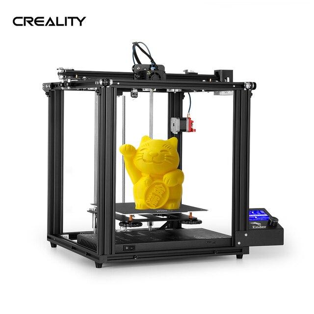 Creality Ender 5/Ender 5 pro impressora 3d diy kit 220*220*300mm construir volume com atualização silencioso placa mãe ptfe tubo extrusora