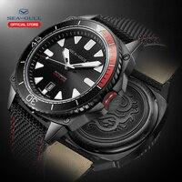 Seagull waterproof watch male multi function luminous leisure sports new automatic mechanical watch 6058H marine series