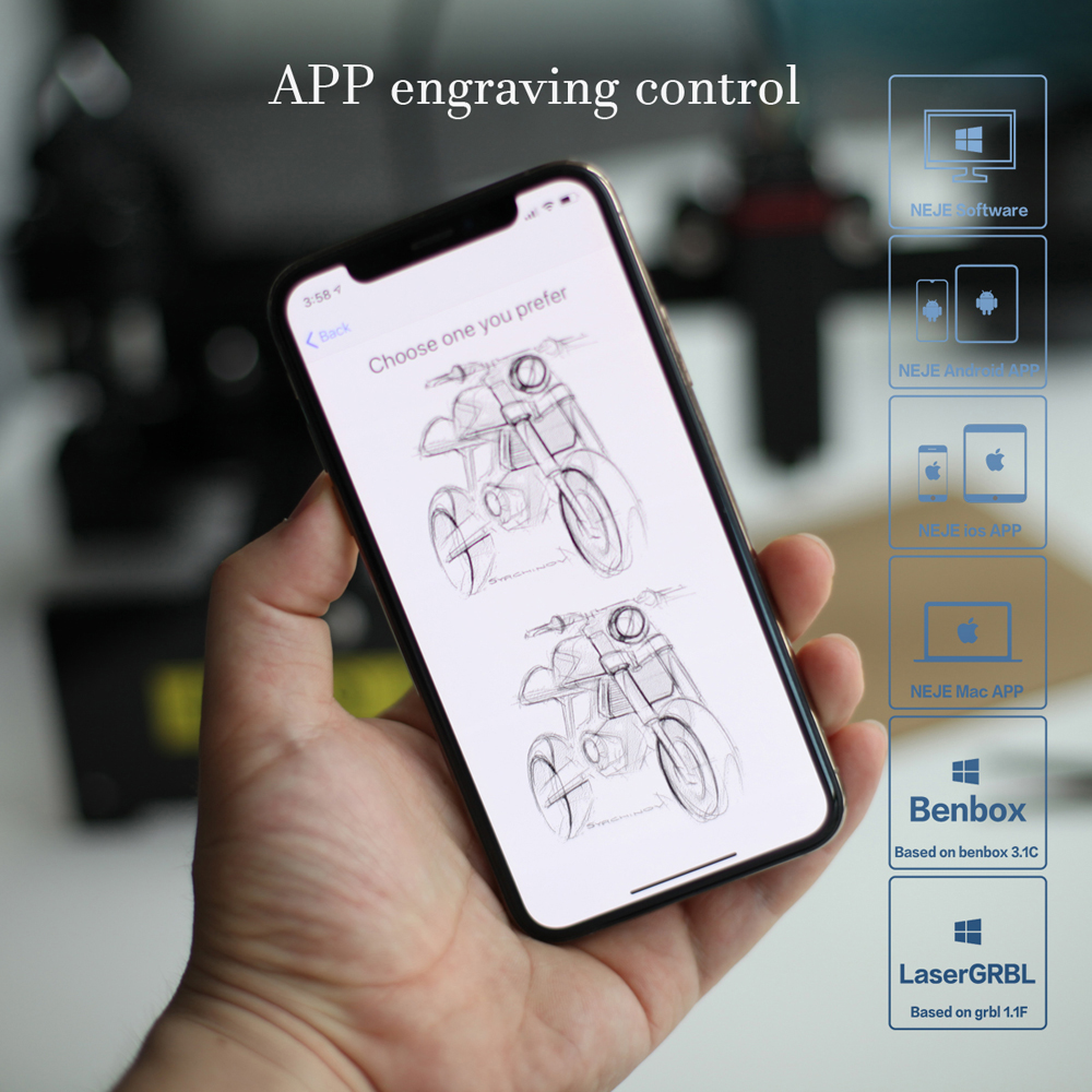 APP Control NEJE Master Laser Engraving Machine with Bluetooth Connectivity 1
