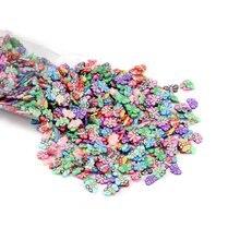 1000ピース/パック17スタイルソフト粘土樹脂フィリング蝶ネイルアート充填剤のdiyエポキシ樹脂工芸ジュエリーメイキングツール