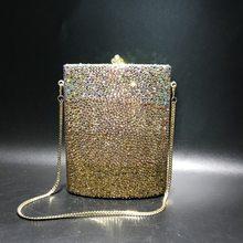 11.5x14.5CM Cor Misturada Garrafa Anca Forma Das Mulheres Saco de Embreagem Saco de Diamantes Saco De Jantar de Cristal Artesanal a6863