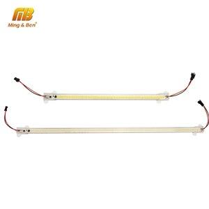 Image 1 - 5 unidades/lote de tubos LED SMD2835, 220V, 72LED, carcasa transparente de color blanco lechoso, 30cm, 50cm, luz de cultivo blanco frío y cálido para iluminación interior