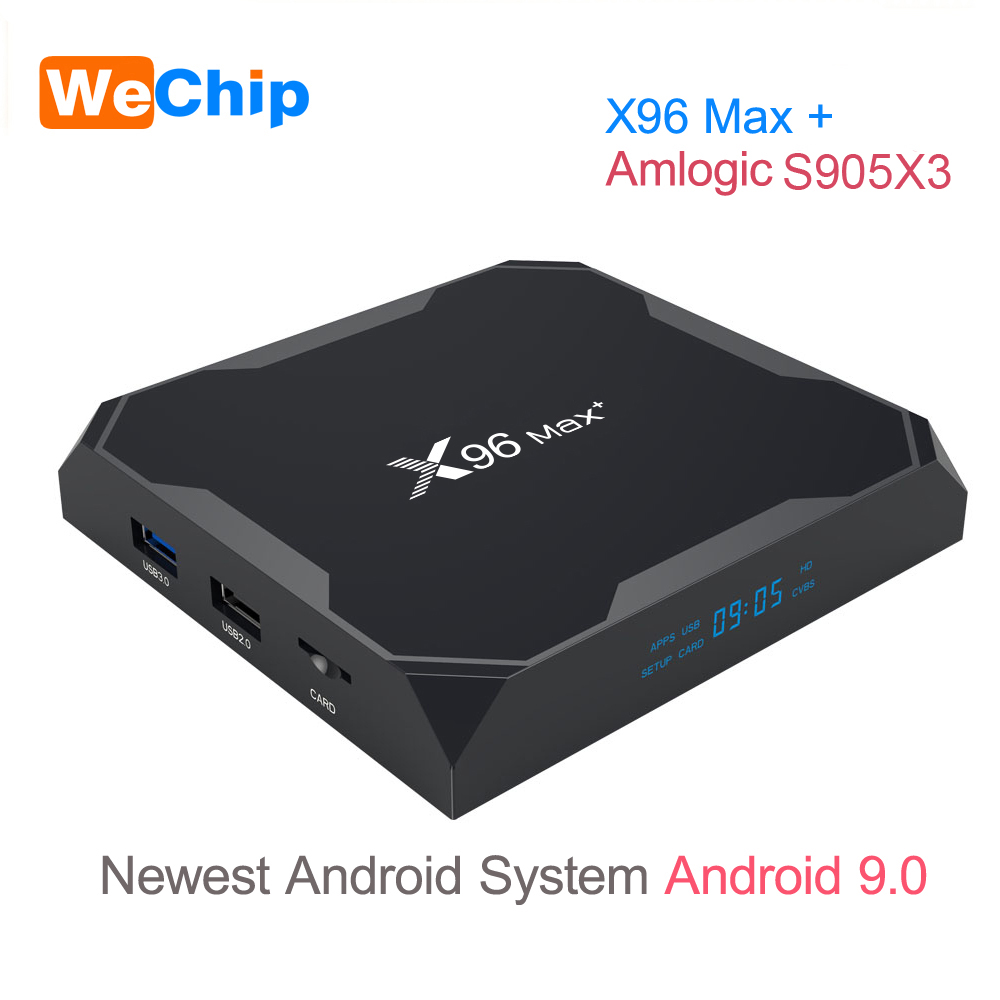 X96 MAX Plus Android 9.0 TV BOX 4GB RAM Amlogice S905X3 2GB 16GB 8K Video Player 2.4G&5GDual Wifi Youtube HD 1000M Smart X96MAX