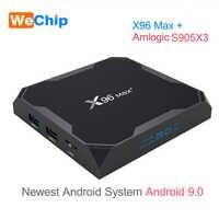 X96 MAX Plus Android 9.0 TV BOX 4GB RAM Amlogice S905X3 2GB 16GB 8K Video Player 2.4G&5GDual Wifi Youtube HD 1000M Smart X96MAX