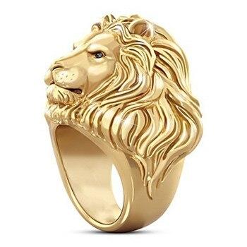 Bague lion métal