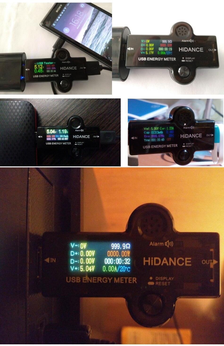 H894eb52d1c4146da85a20d49c4c7d009l USB 3.0 TFT 13in1 USB tester APP dc digital voltmeter ammeter voltimetro power bank voltage detector volt meter electric doctor