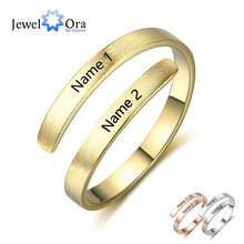 Personalized Ring Customize Engraved Names 3 Colors Available Adjustable Rings for Women Anniversary Jewelry (JewelOra RI103498) стоимость