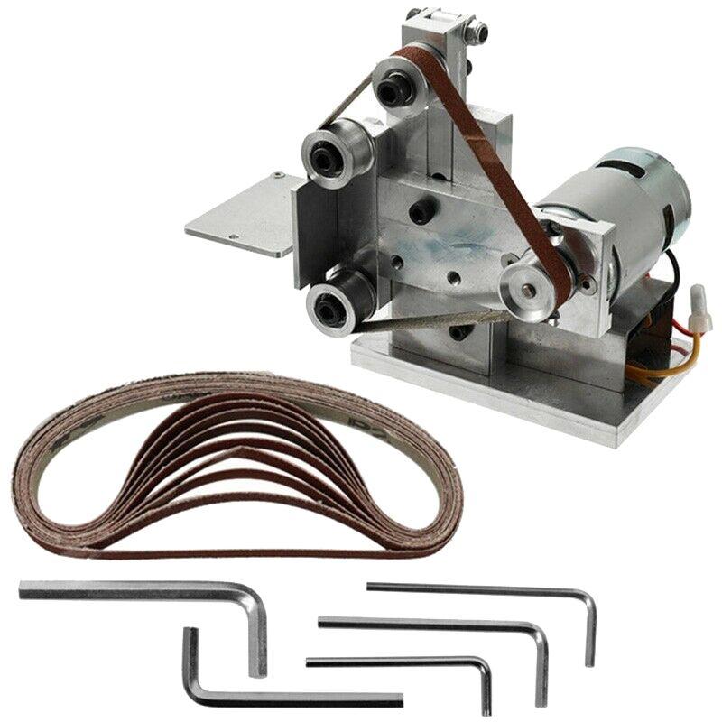 Электрический ленточный шлифовальный станок точилка маленькая Мини DIY полировальная машина шлифовальная скамья абразивные инструменты