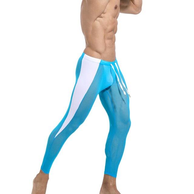Men's 2021 Long johns Seamless Legging Track Fitness Sports Leggings Men Compression Workout Comression Jogging 6Colors 3