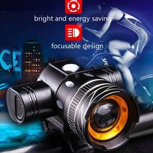 2400mAh светодиодный велосипедный светильник, передний светильник, USB Перезаряжаемый задний светильник, 3 режима, головной светильник, сплав, в...