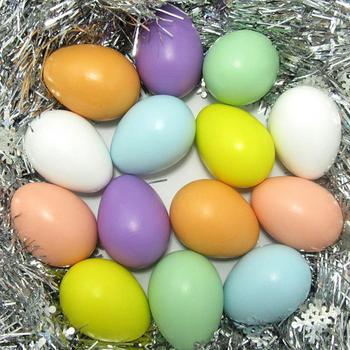 One by one random colors no lanyard 6 * 4cm Easter eggs simulation goose egg eggs eggs duck H1Z9 image