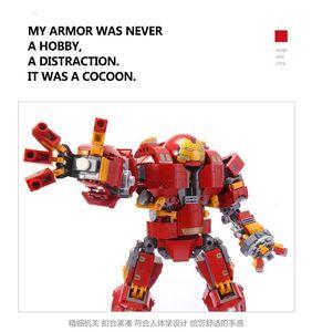 Image 4 - Người Sắt Hulkbuster Lepining 76105 Marvel Iron Man Avengers Siêu Anh Hùng Mẫu Bộ Khối Xây Dựng Bé Trai Giáng Sinh Quà Tặng Đồ Chơi Trẻ Em